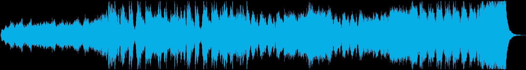 大自然の光景を思わせるクラシック曲の再生済みの波形