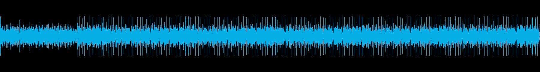 緊迫感のある弦とピアノのエレクトロニカの再生済みの波形