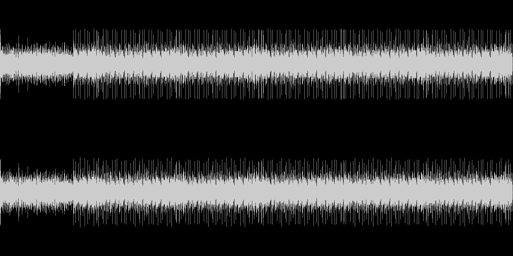 緊迫感のある弦とピアノのエレクトロニカの未再生の波形