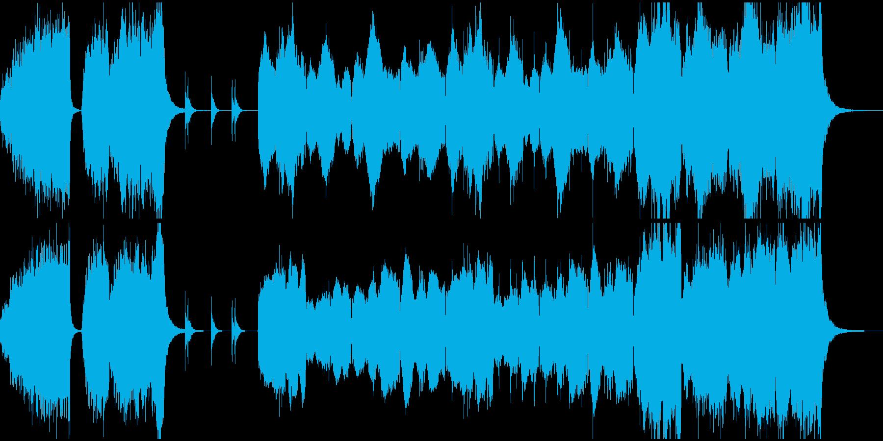 緊迫感のあるストリングスオーケストラの再生済みの波形