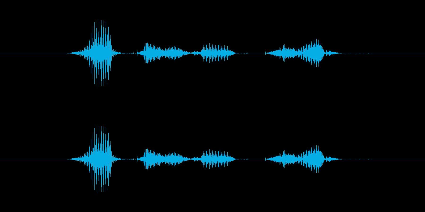 【月】8月の再生済みの波形