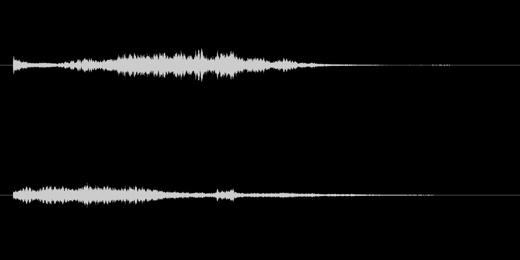 浮遊するシンセのサウンドロゴの未再生の波形