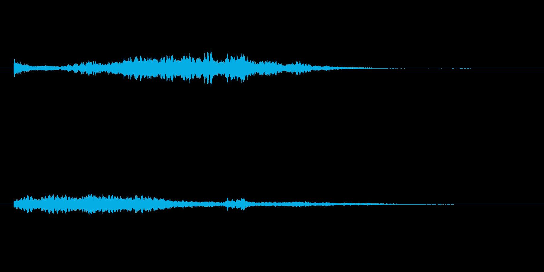 浮遊するシンセのサウンドロゴの再生済みの波形
