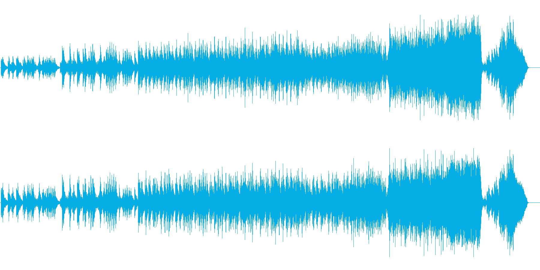 エンディング向けのおやすみバラードの再生済みの波形