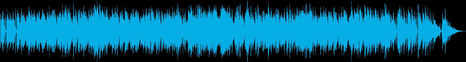 ゆったりした曲調のギターデュオの再生済みの波形