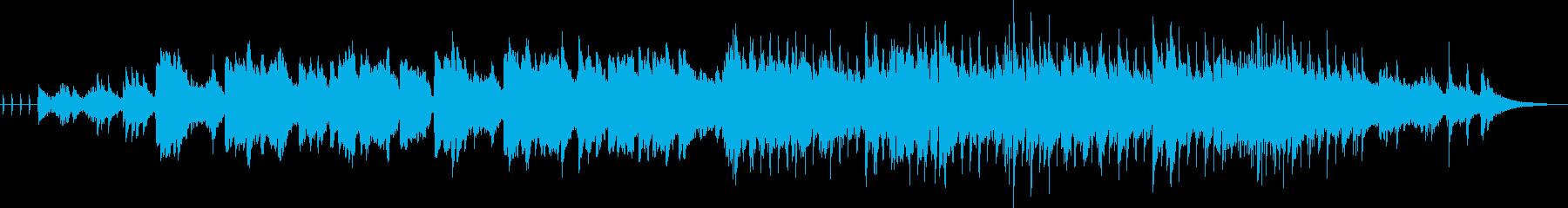 ドラマチックで感動的なトランペットの曲の再生済みの波形