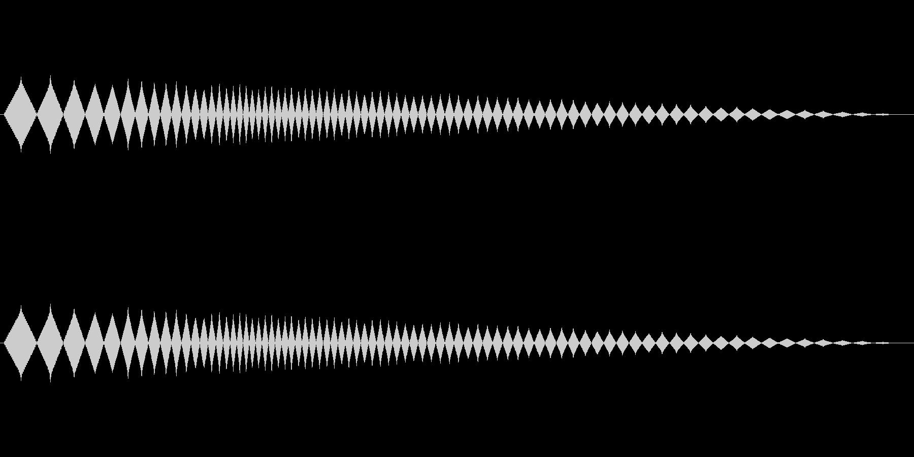 レトロゲーム風ショット音3の未再生の波形