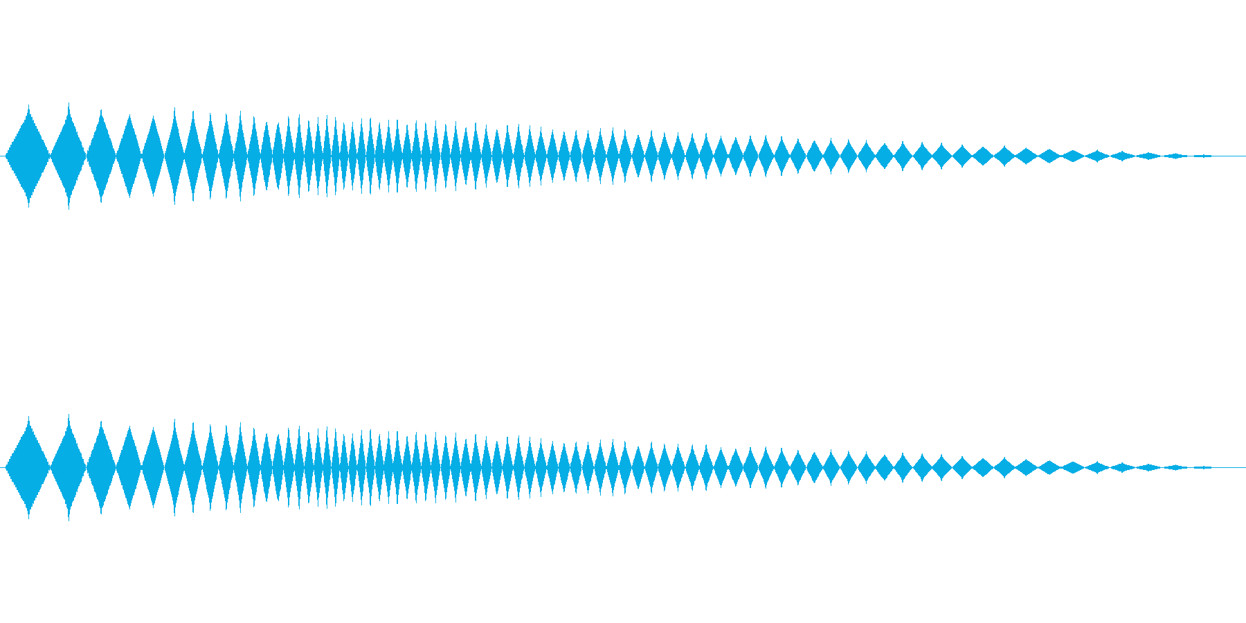レトロゲーム風ショット音3の再生済みの波形
