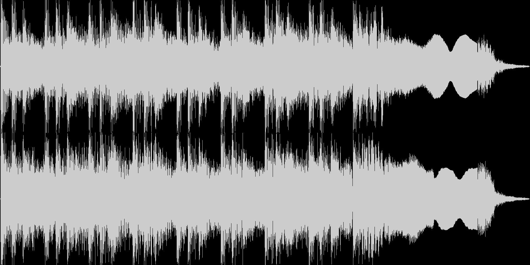例のリズムをベースにしたハードロックの未再生の波形