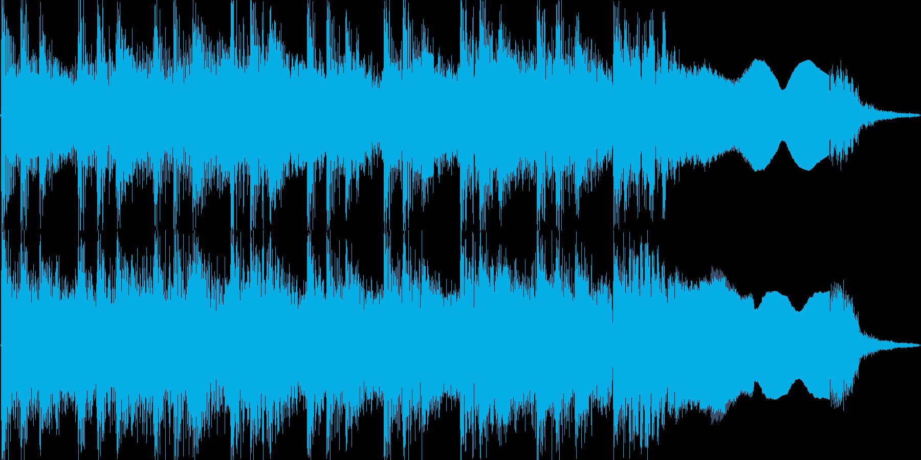 例のリズムをベースにしたハードロックの再生済みの波形