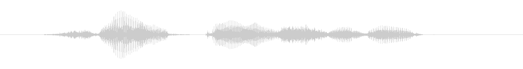 再開するの未再生の波形