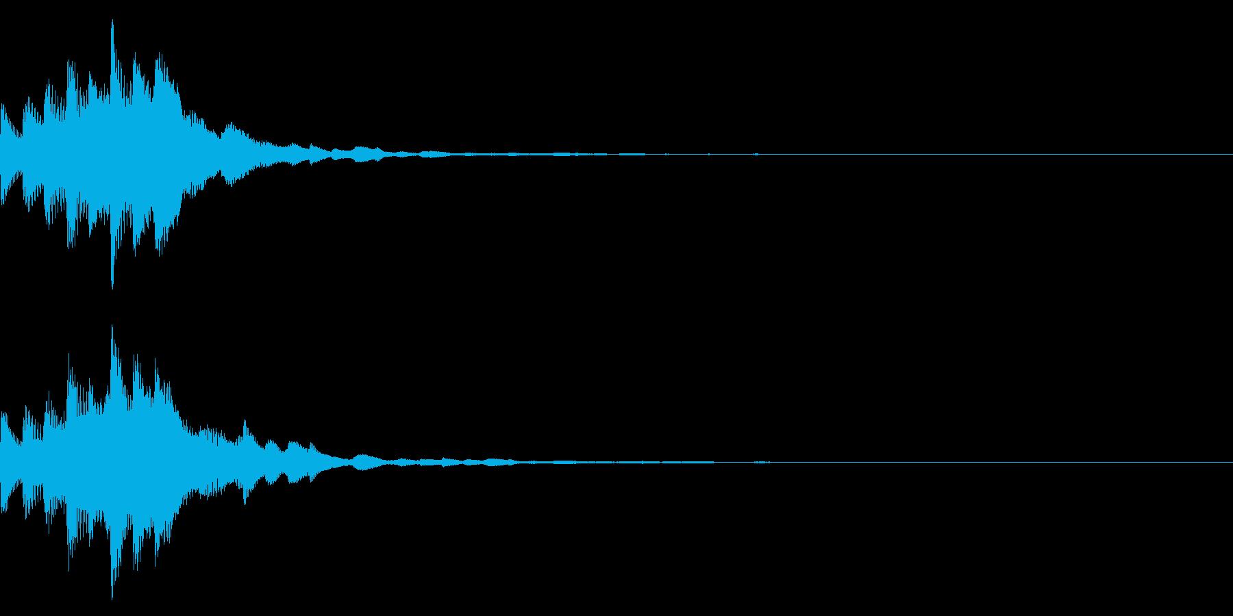 シューティングゲームスタート音の再生済みの波形