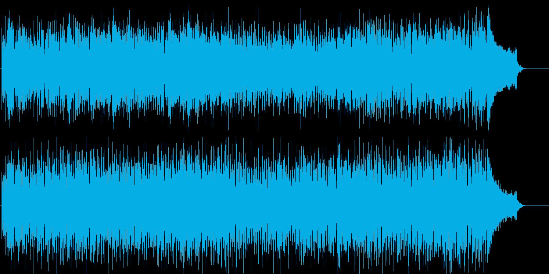 明るくスキップするようなポップスの再生済みの波形
