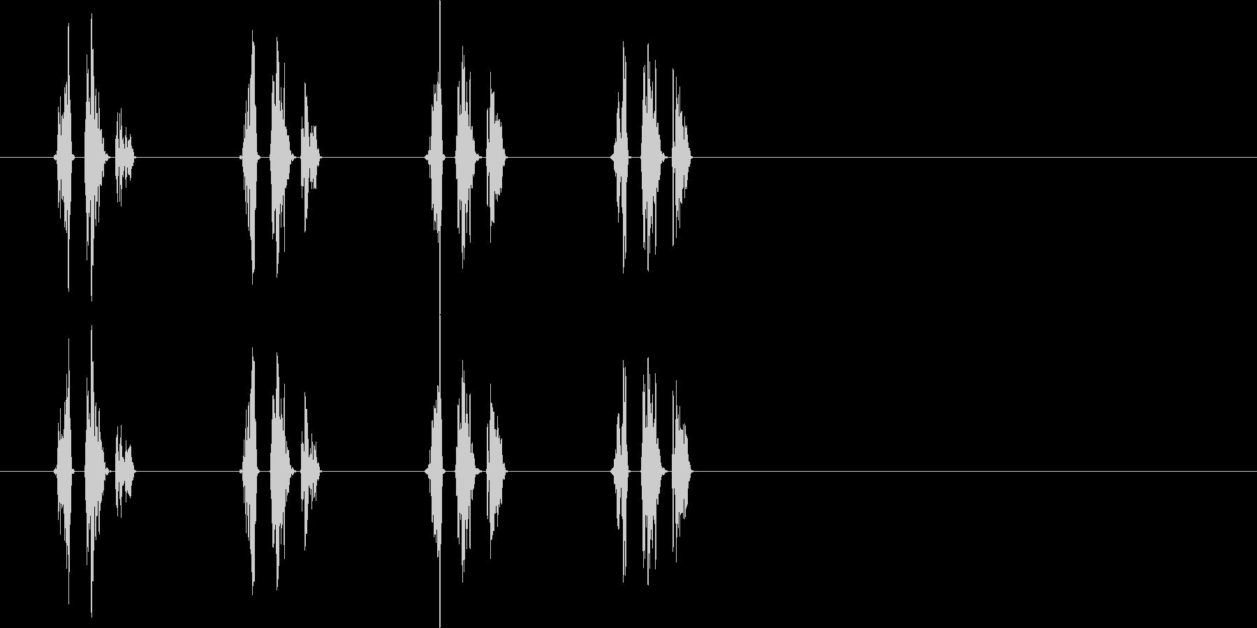 移動音(馬)の未再生の波形