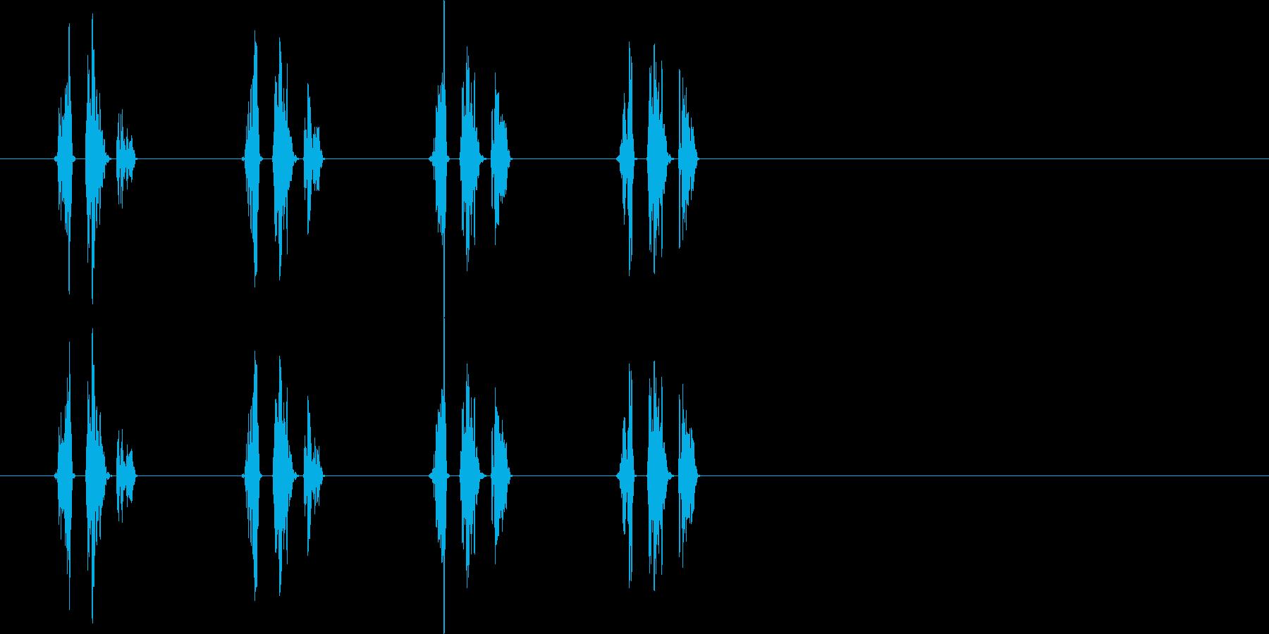 移動音(馬)の再生済みの波形