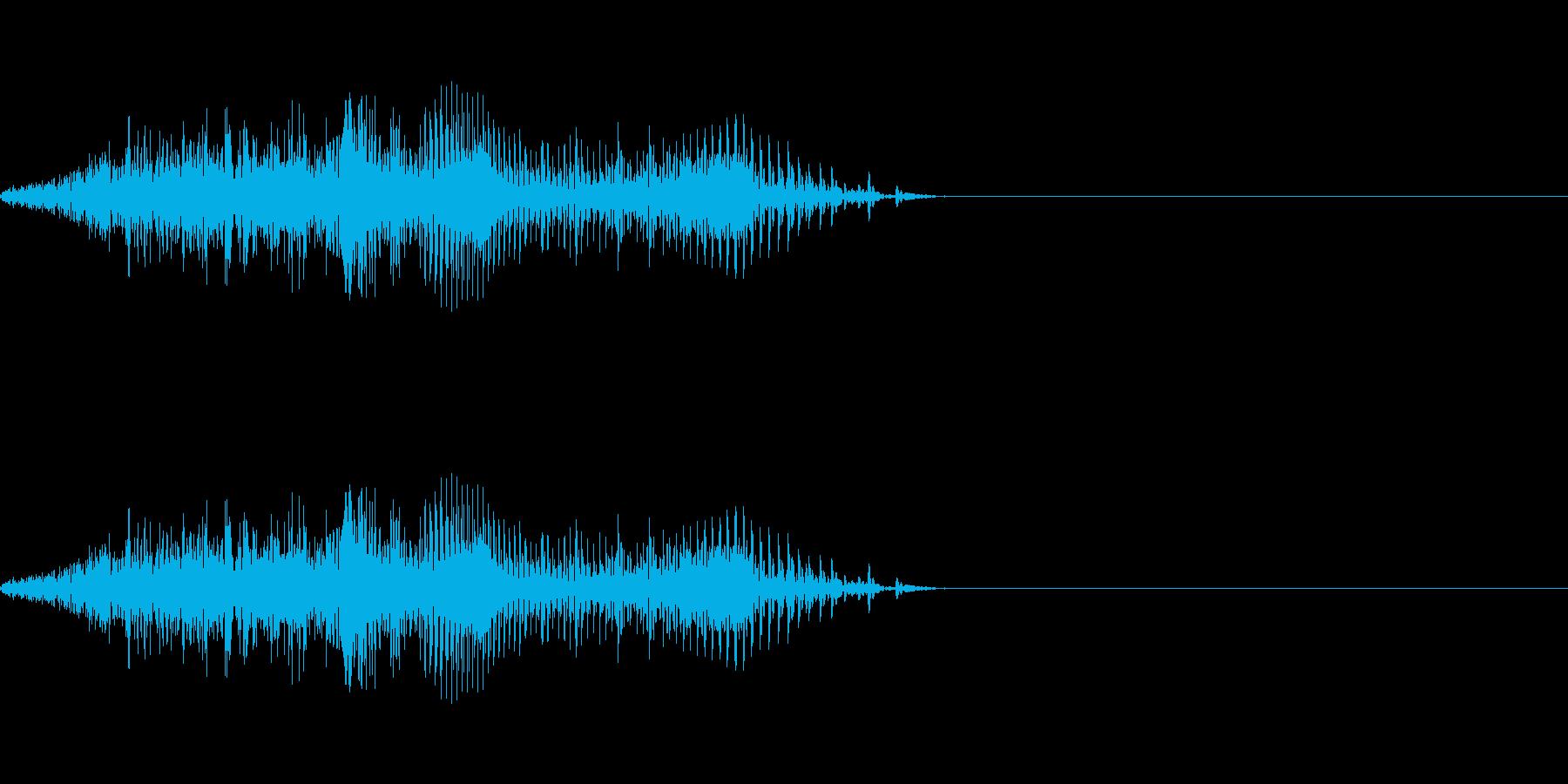しゃ!!(よし!やったぜ的な喜びの声)の再生済みの波形