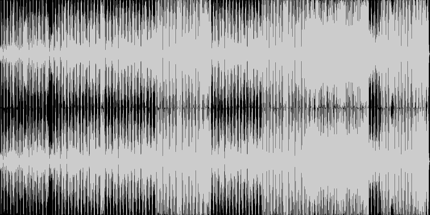 タンゴ風のテクノポップの未再生の波形