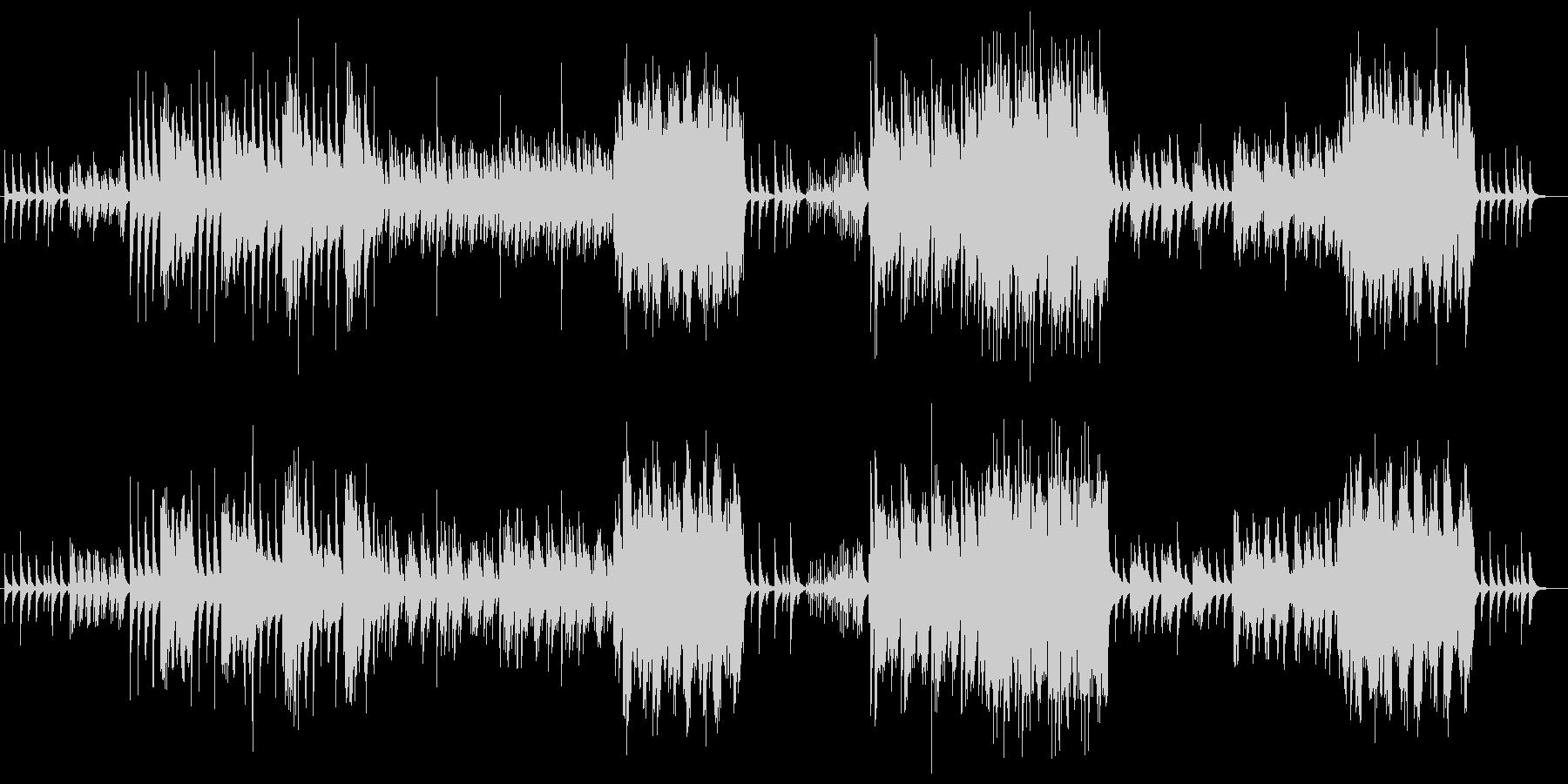 ピアノと木管楽器 ほのぼのポカポカの未再生の波形