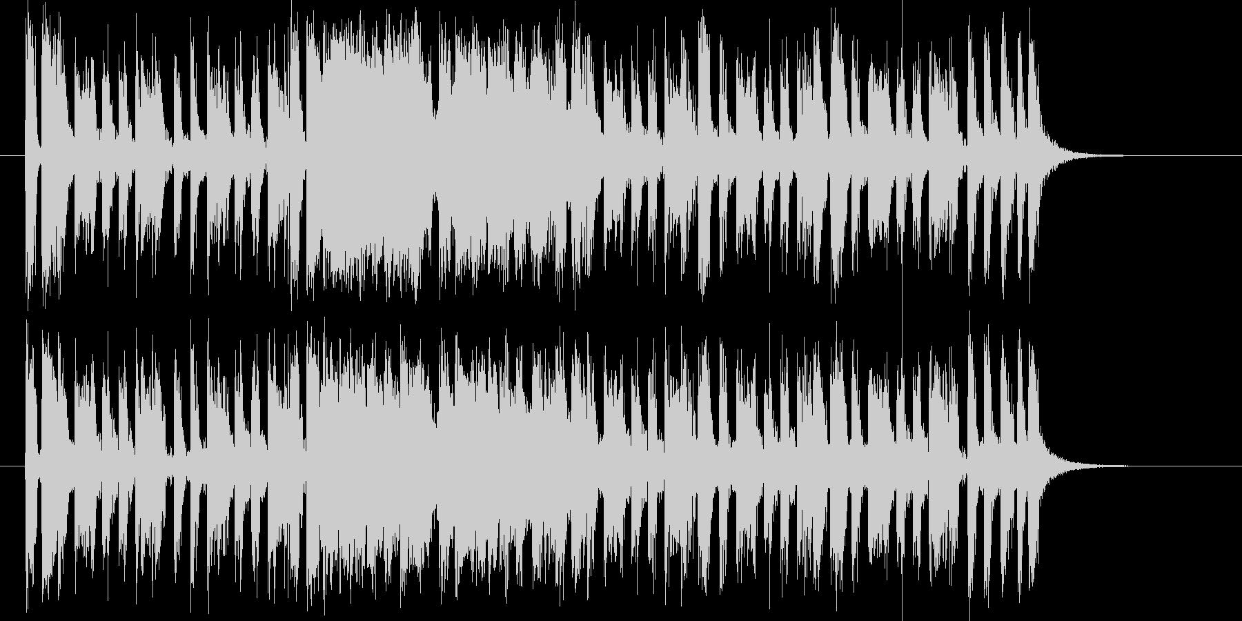 軽快なリズムのポップなバンドのジングルの未再生の波形