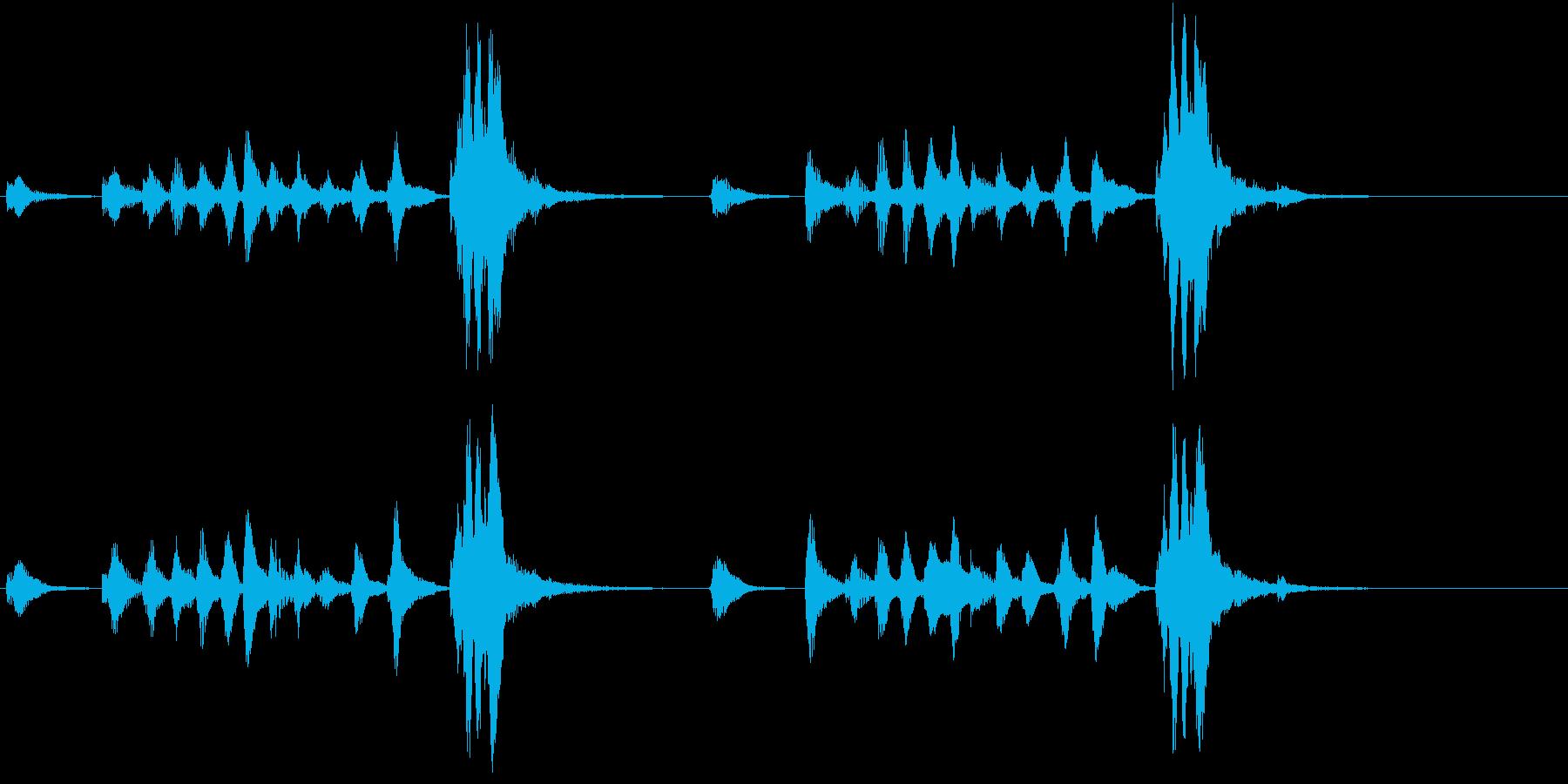 トムとジェリー風なアニメ音楽「忍び足」5の再生済みの波形