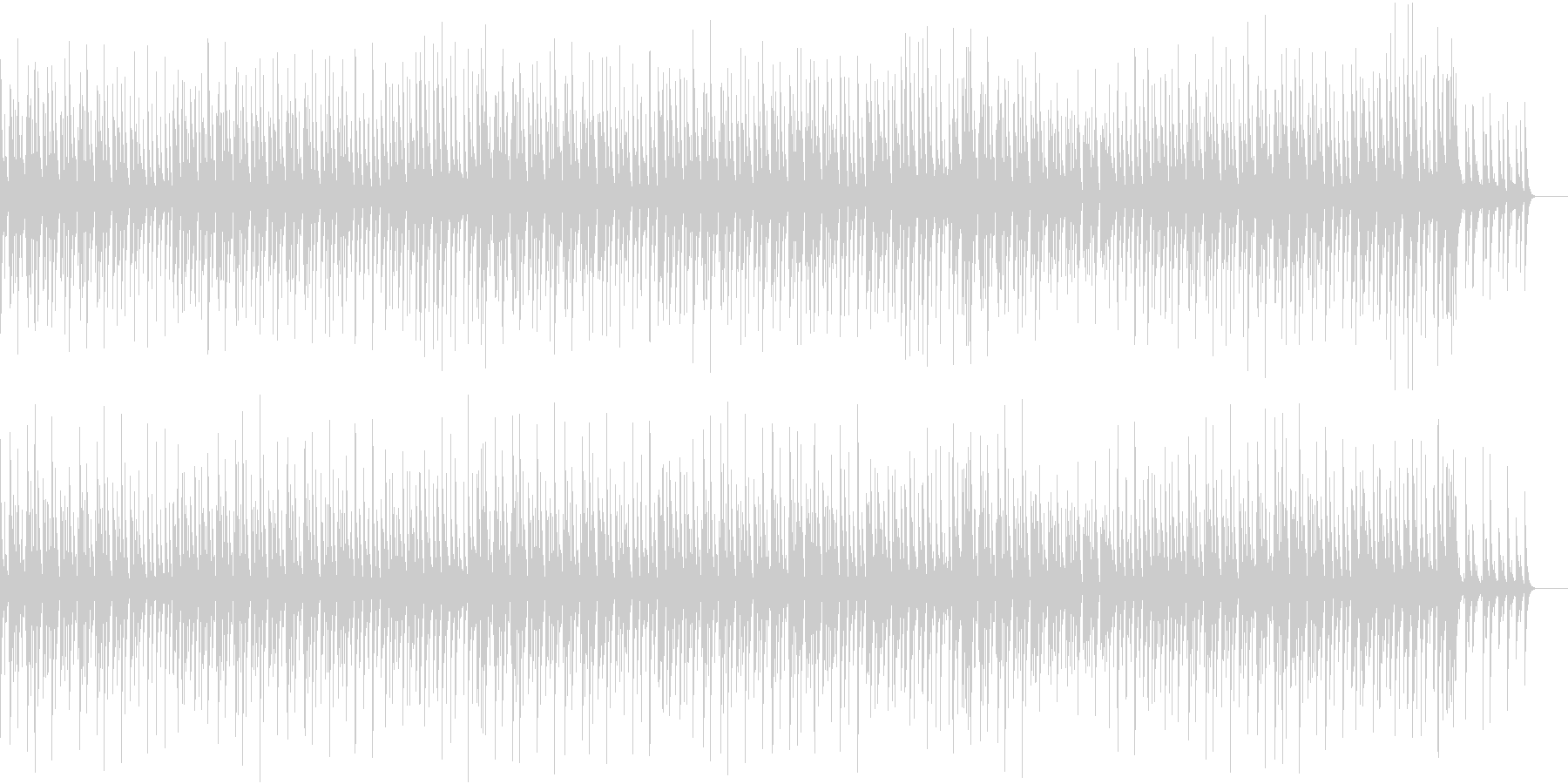 ゆったりして滑らかなジャズの未再生の波形