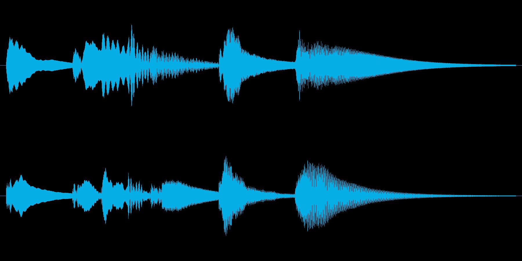 かわいいポップな場面転換の再生済みの波形