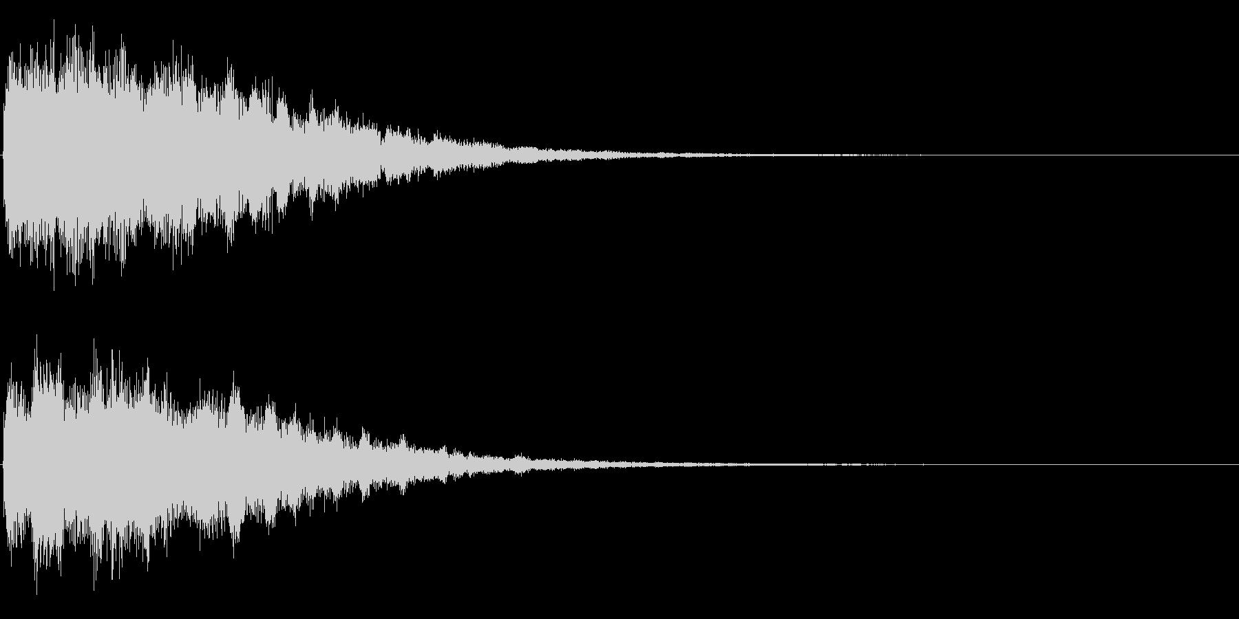 ゲームスタート、決定、ボタン音-122の未再生の波形