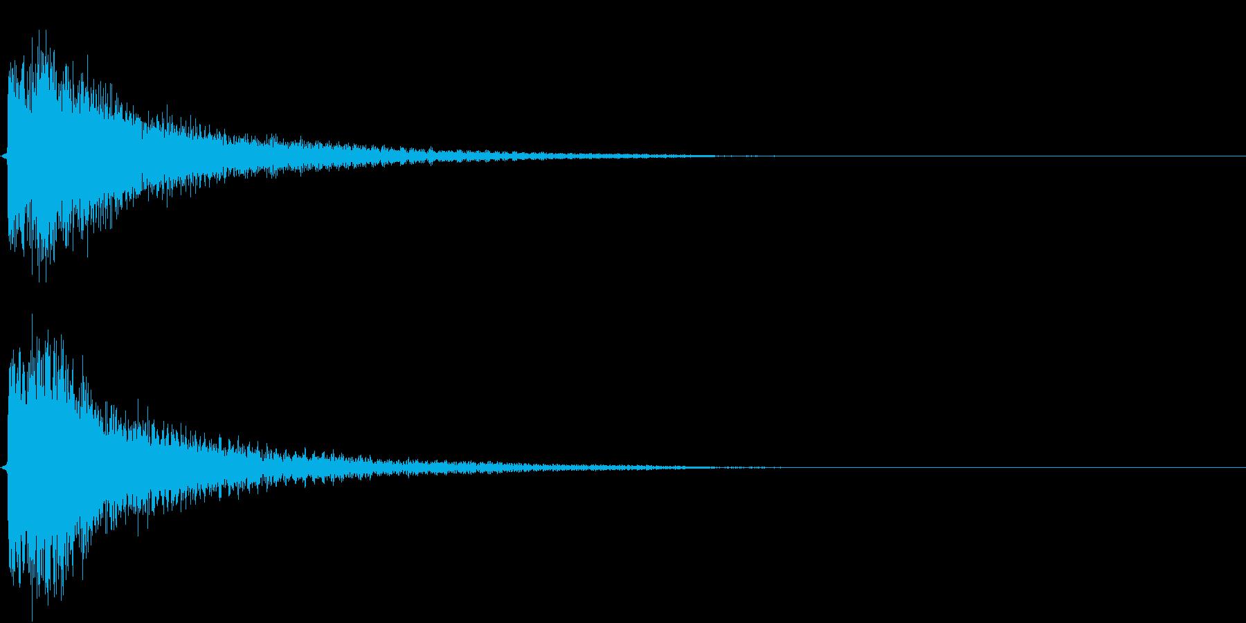 インパクト、衝撃、ヒット音です。『ダダ…の再生済みの波形