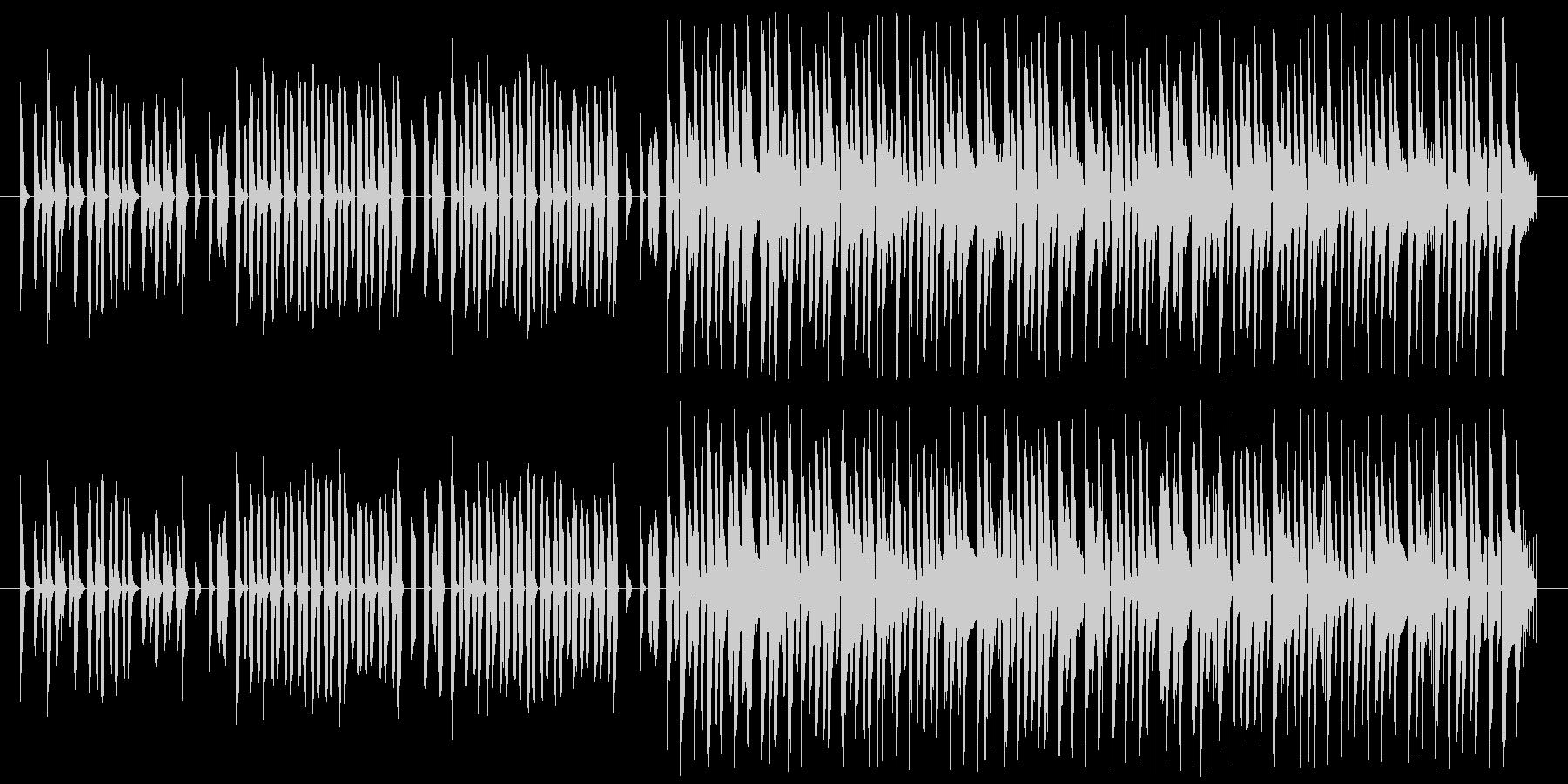 のんびりまったりなシンセとレゲエの未再生の波形
