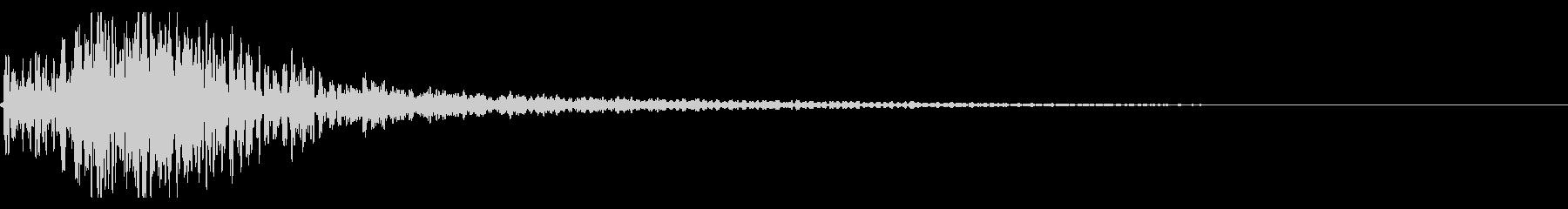 ドドン!迫力ある太鼓のインパクト! 02の未再生の波形
