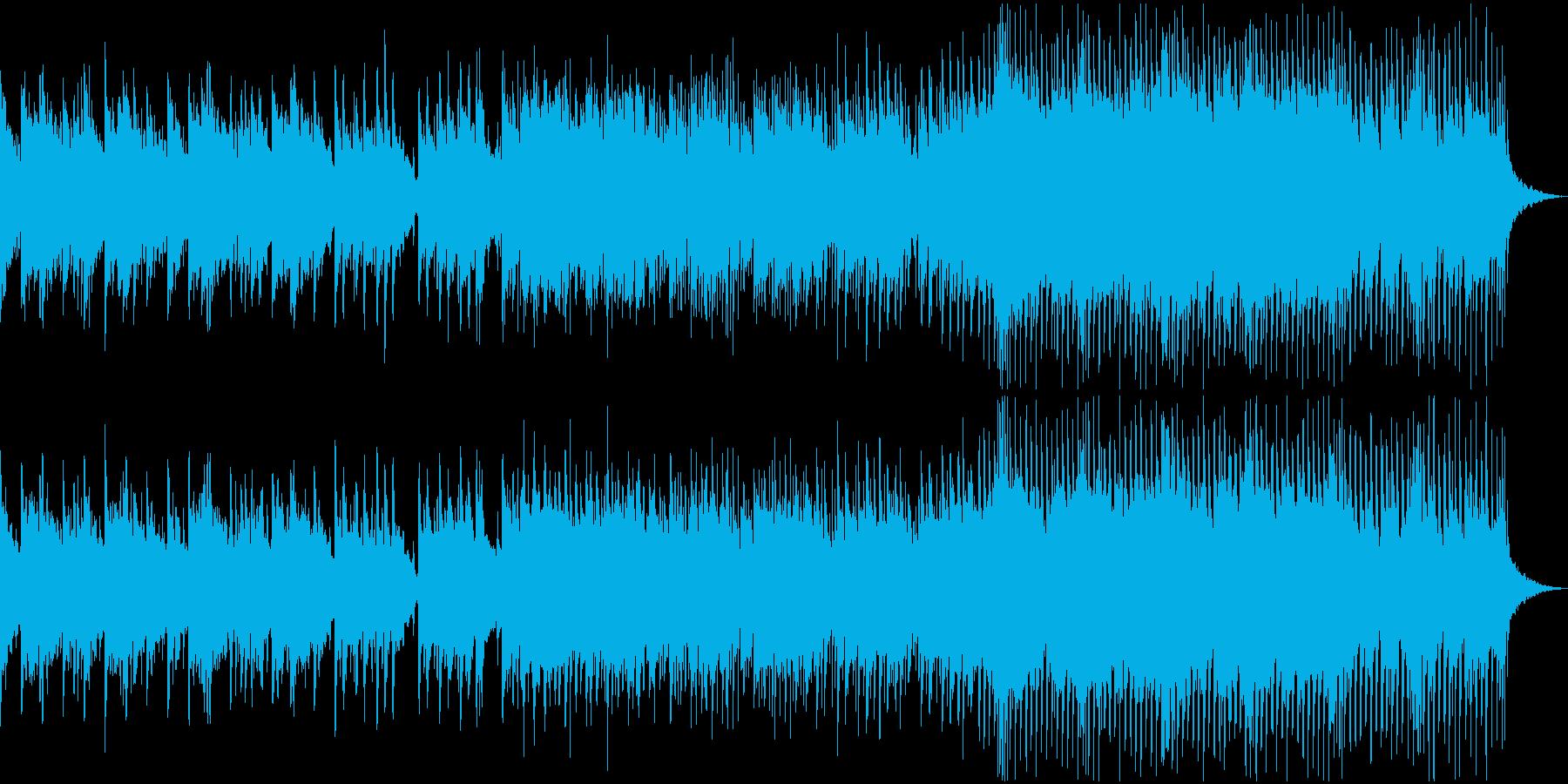 夕暮れ 海 波 爽やか 切ない 映像用の再生済みの波形