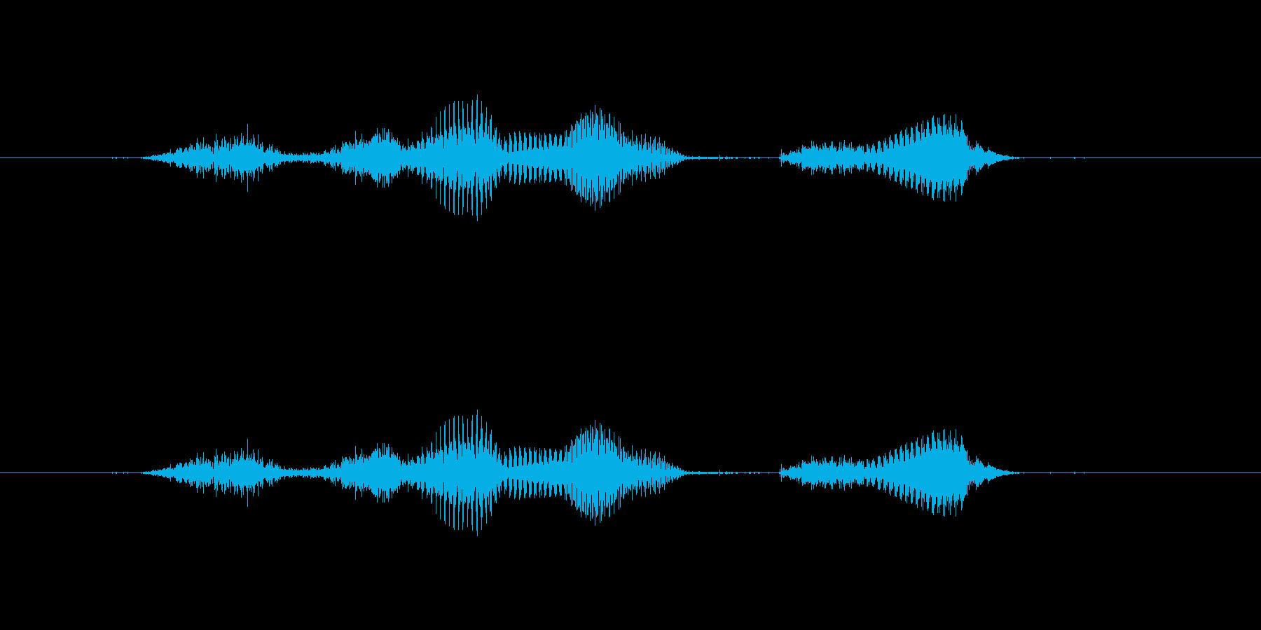 【月】7月の再生済みの波形