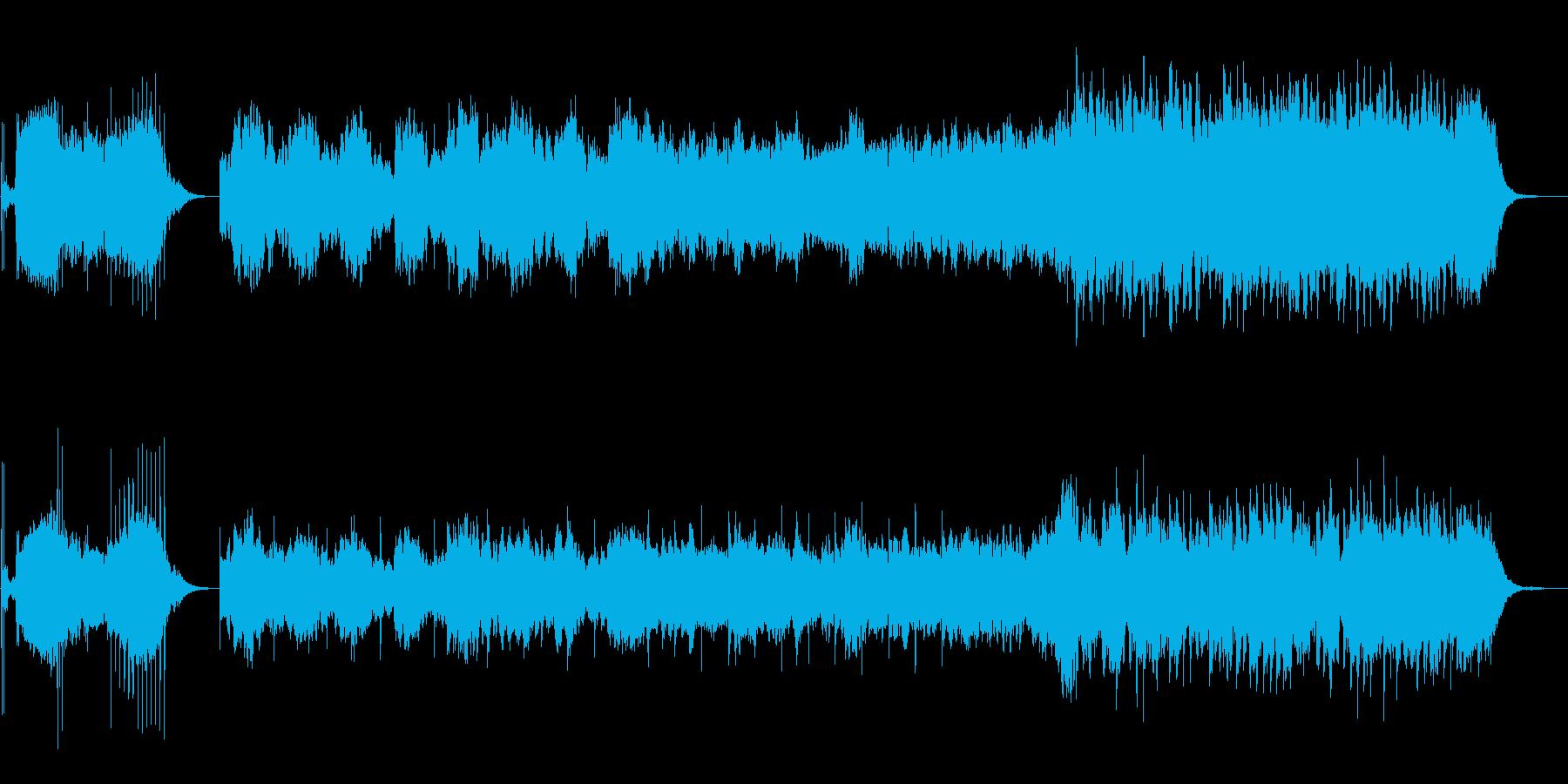 幻想的な和風楽曲の再生済みの波形