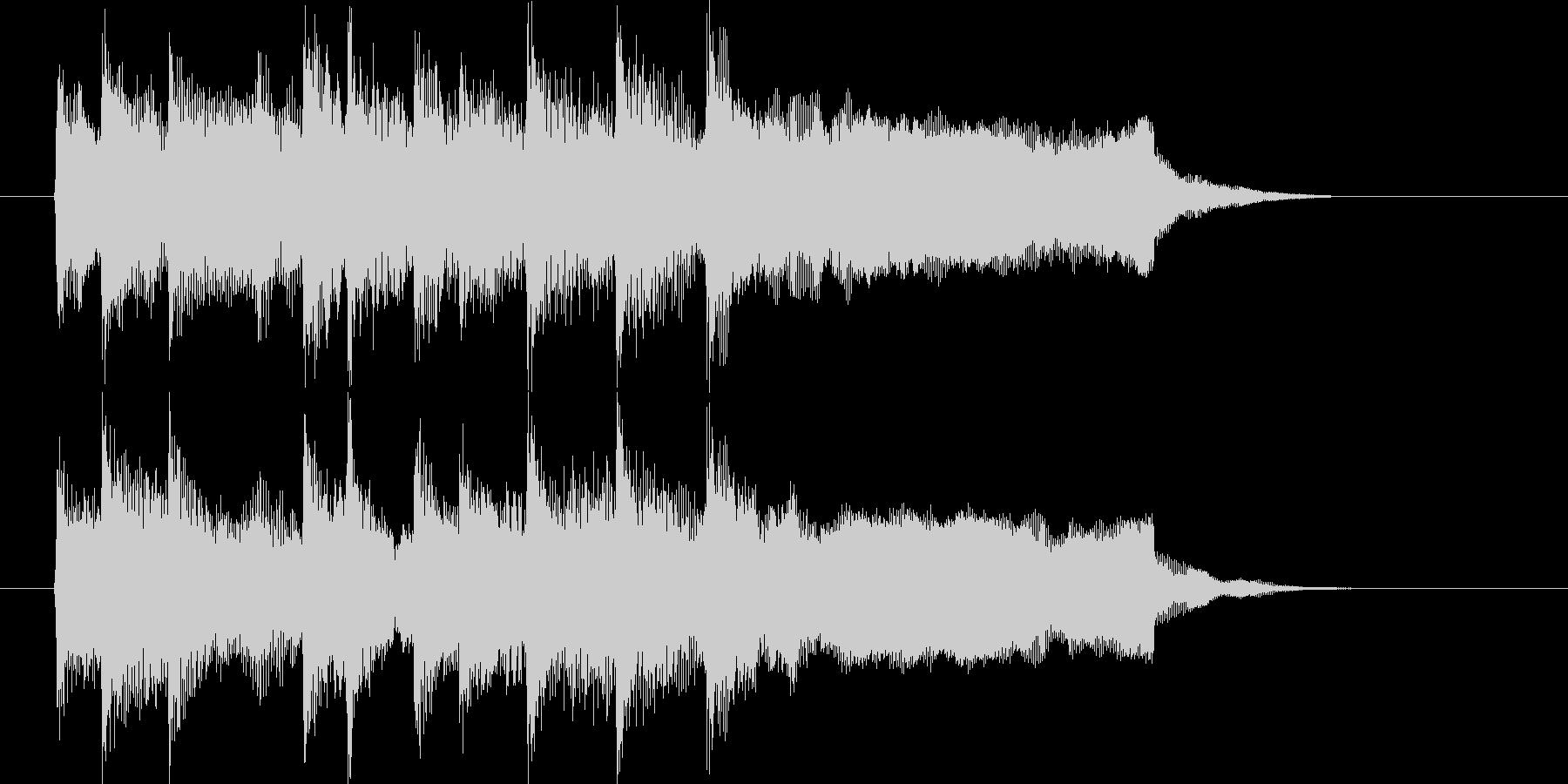 メロディアスで優しいピアノジングルの未再生の波形