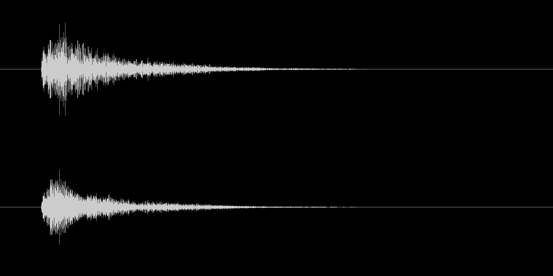 ジャラン(終了音、PC起動)の未再生の波形