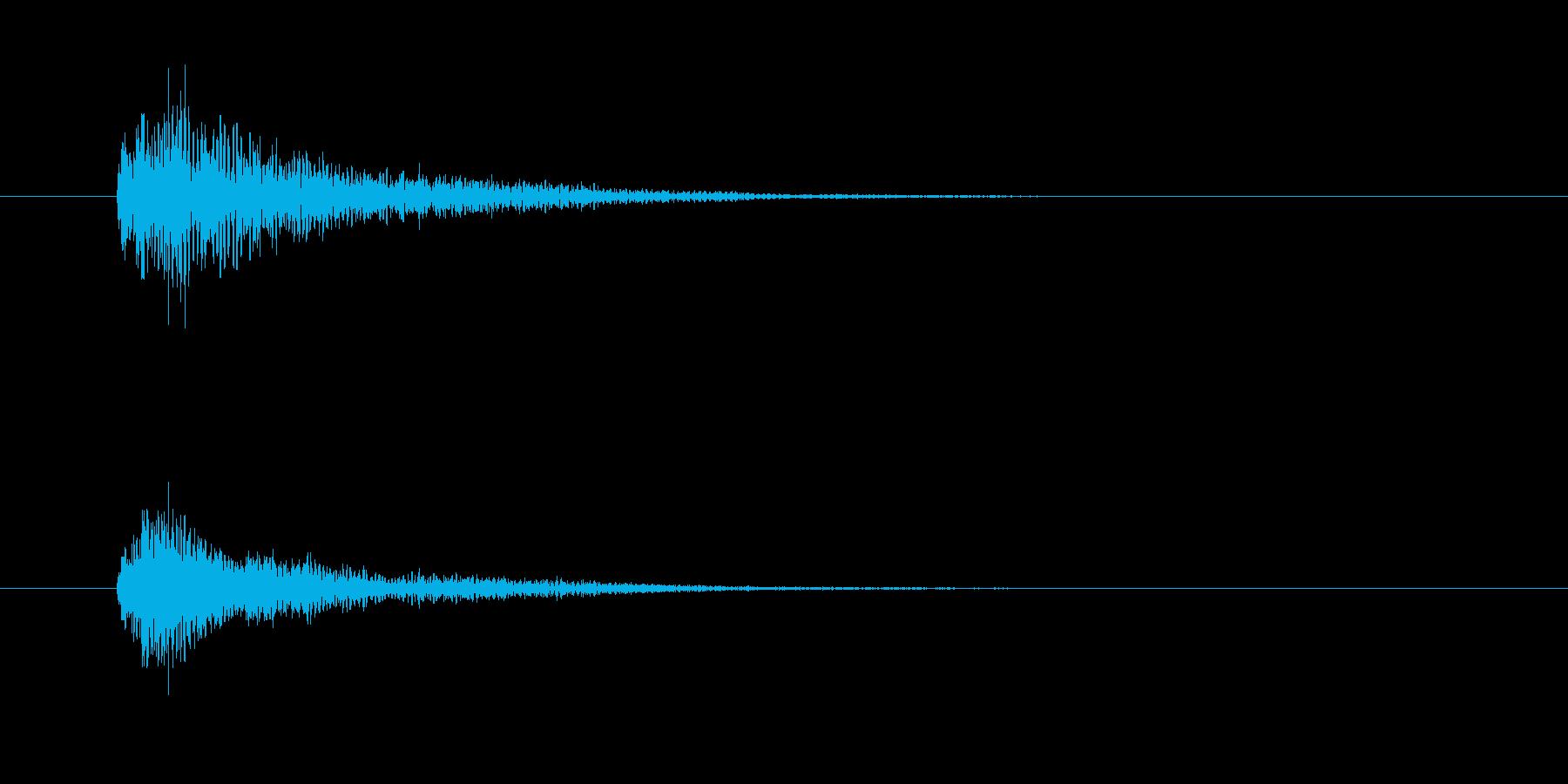 ジャラン(終了音、PC起動)の再生済みの波形