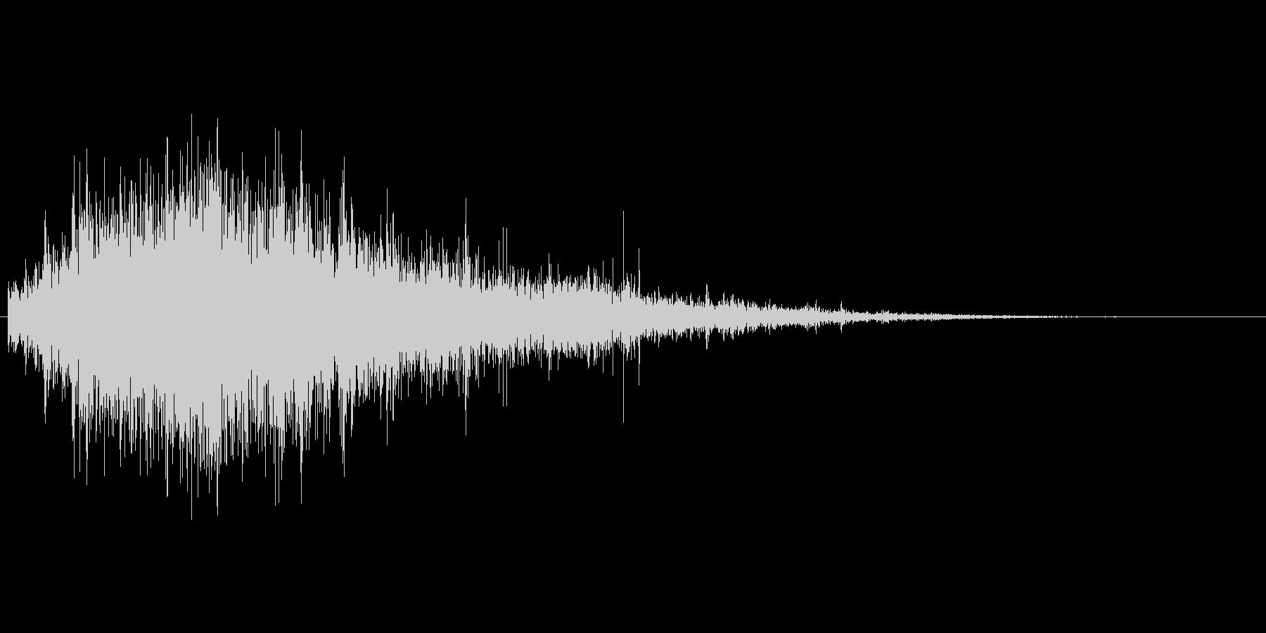 激しい水の音01の未再生の波形