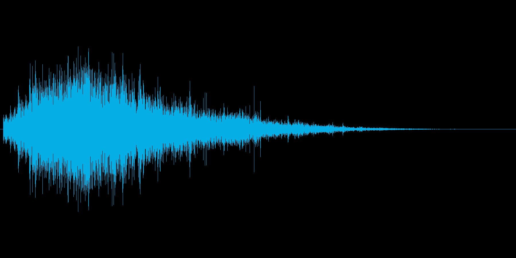 激しい水の音01の再生済みの波形