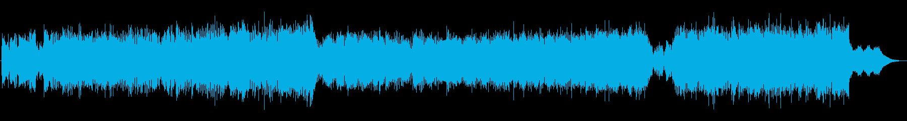 宇宙空間に最適なBGMの再生済みの波形