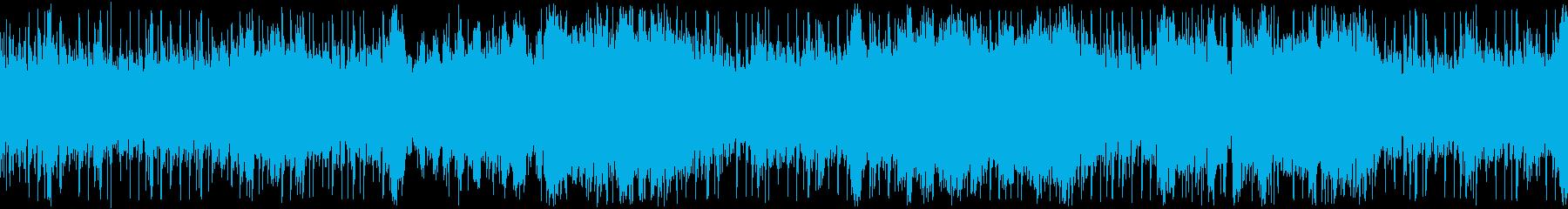 ゲーム用バトル、ダンジョン等ループBGMの再生済みの波形