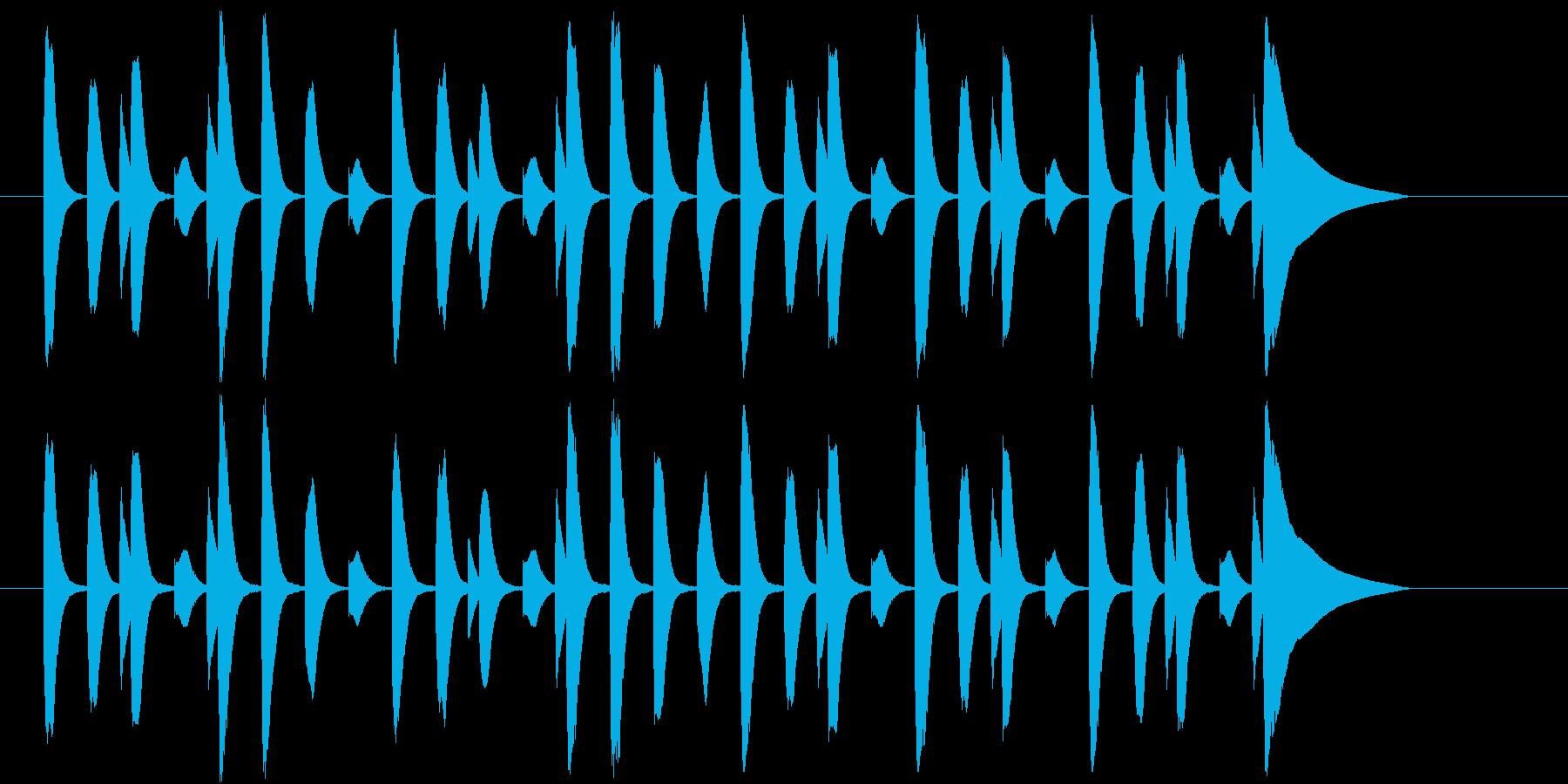 ほのぼのとした場面に使える木琴のジングルの再生済みの波形