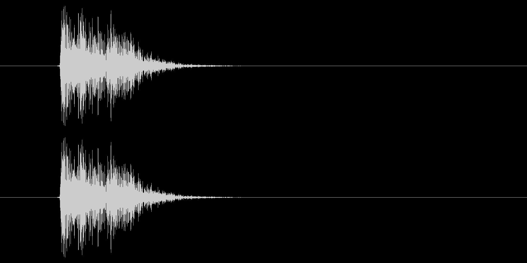 キュイッ(選択、決定、ピッチ高め)の未再生の波形