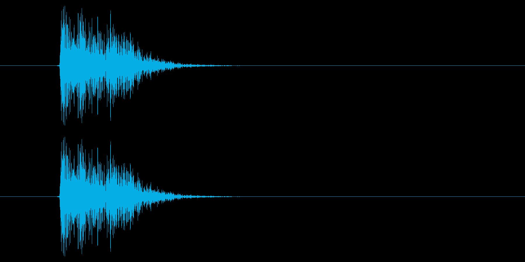 キュイッ(選択、決定、ピッチ高め)の再生済みの波形