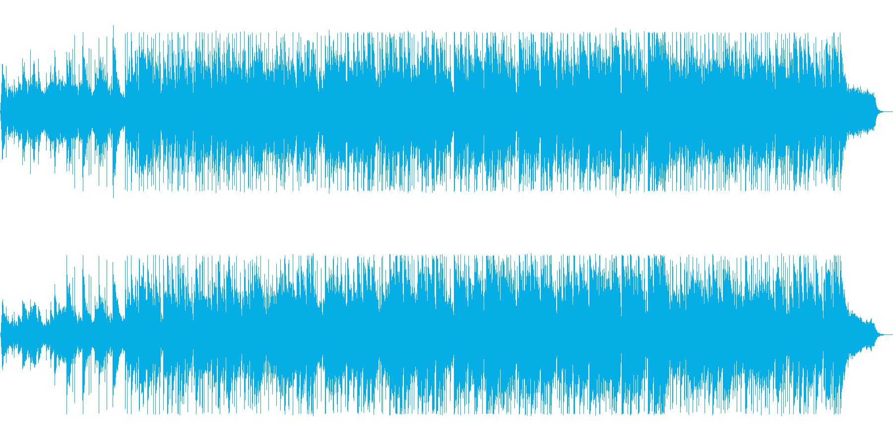 穏やかなテンポのポップスの再生済みの波形