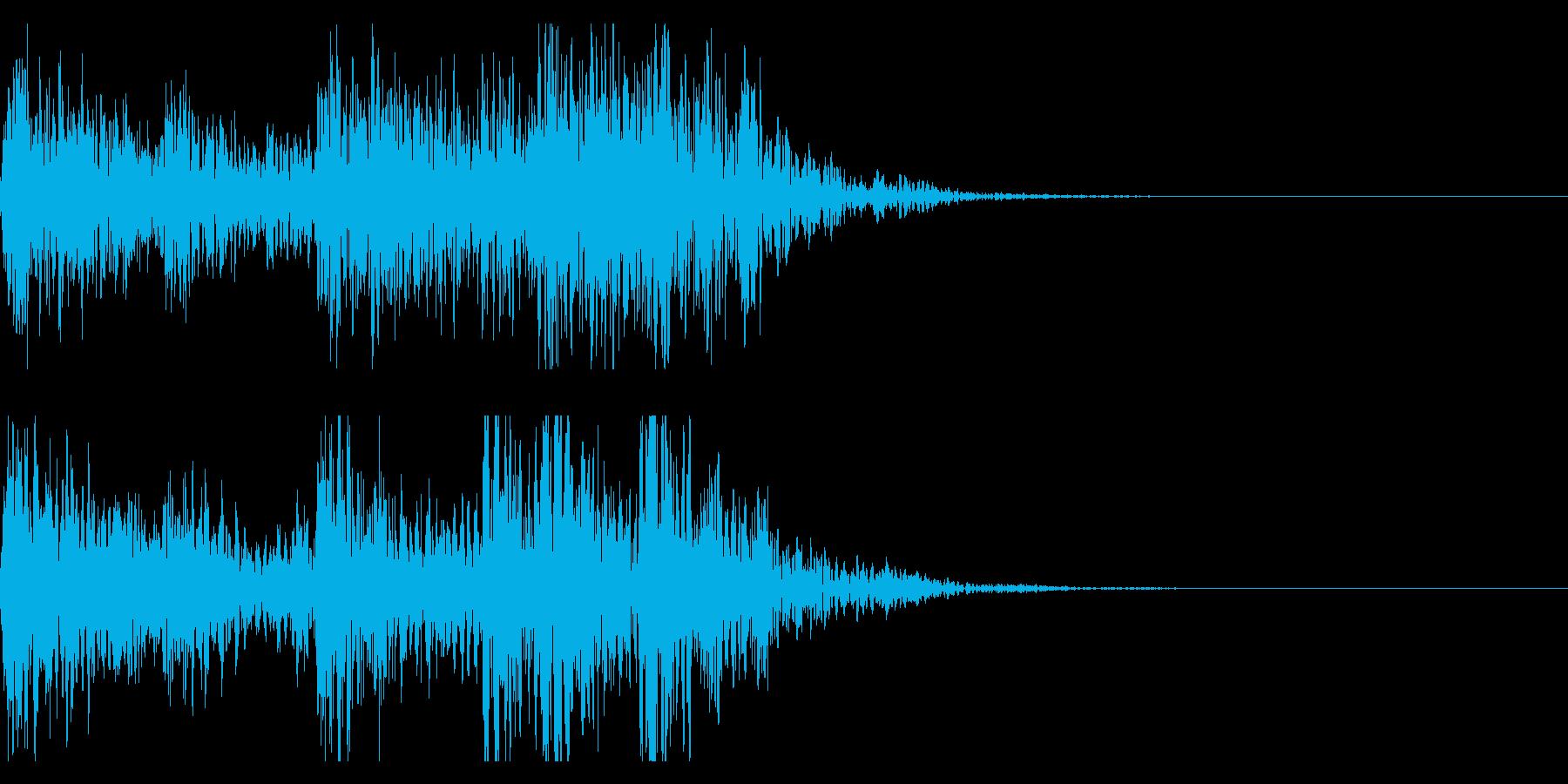 太鼓、和太鼓のフレーズ ジングル!23の再生済みの波形