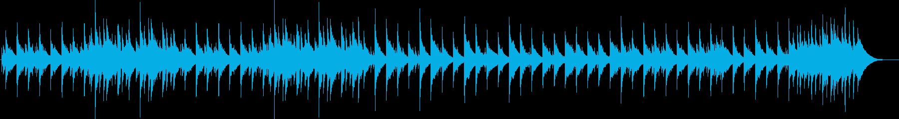 映像作品に使える癒しのアコギサウンドの再生済みの波形