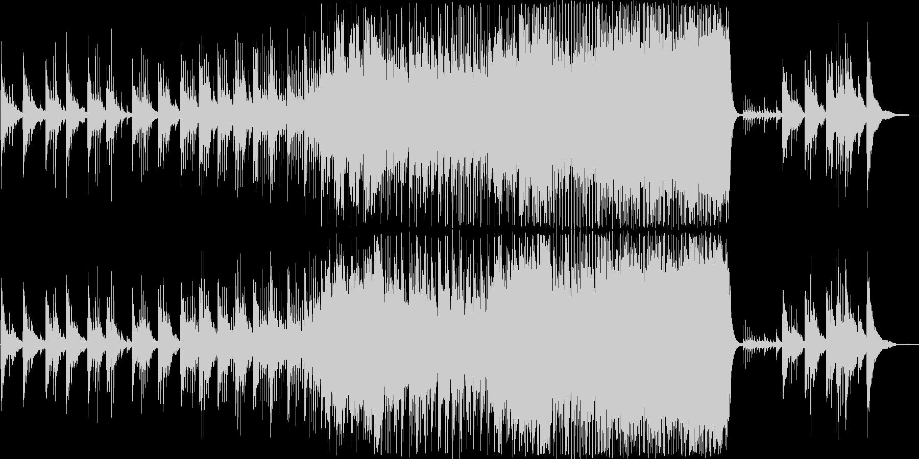 除夜の鐘のイメージでアンビエントな曲の未再生の波形