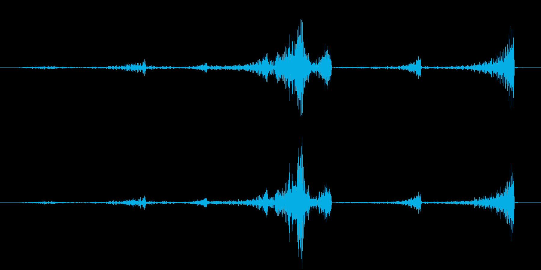 連続のリバース音の再生済みの波形