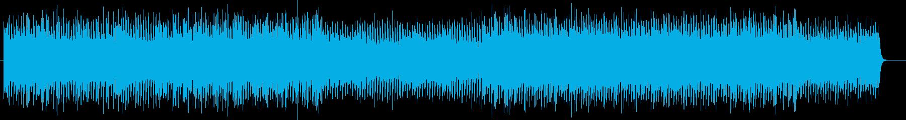 近未来感の明るいシンセサイザーサウンドの再生済みの波形