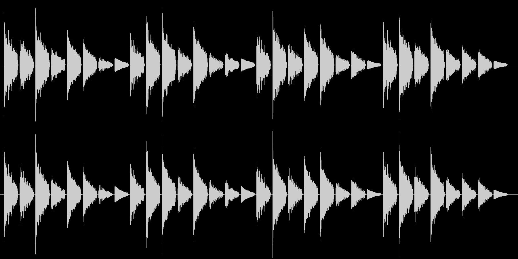 危険を知らせるアラート音(警戒度:低)の未再生の波形